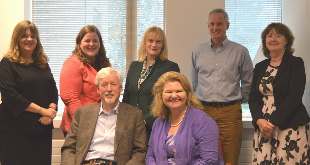 Fulbright Commission Board Members: (L-R) Prof. Diane Negra, Ms Jen McAndrew, Prof. John Hegarty, Ms Aleisha Woodward (former member), Dr Sarah Ingle (Chair), Mr Michael Kirby, Dr Anne Cleary